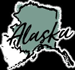 Hand Drawn Alaska State Sticker