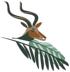 Hand Drawn Antelope Head With Leaf Sticker