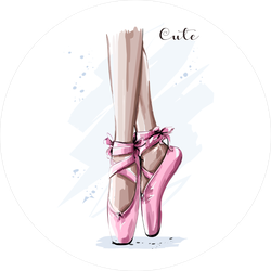 Hand Drawn Ballet Dancer Legs Sticker
