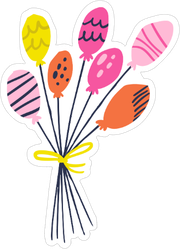 Hand Drawn Balloons Sticker