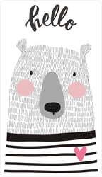 Hand Drawn Bear Saying Hello Sticker