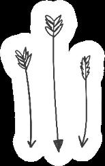 Hand Drawn Bohemian Arrows Sticker
