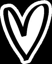 Hand Drawn Boho Heart Sticker
