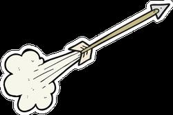 Hand Drawn Cartoon Flying Arrow Sticker