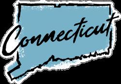 Hand Drawn Connecticut State Sticker