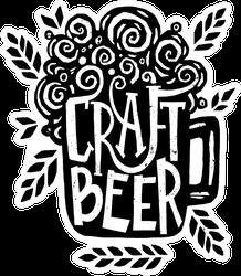Hand Drawn Craft Beer Sticker