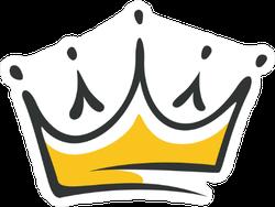 Hand Drawn Crown Sticker