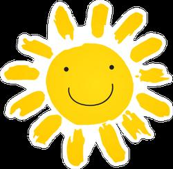 Hand Drawn Cute Shinny Sun Smiling Sticker
