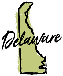 Hand Drawn Delaware State Sticker
