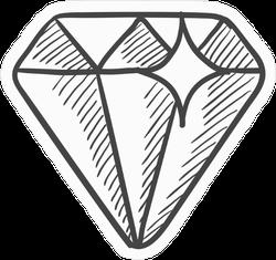 Hand Drawn Diamond Sticker