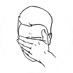 Hand Drawn Face Palm Meme Sticker