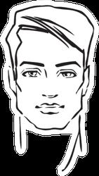 Hand-drawn Fashion Model Sticker