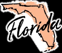 Hand Drawn Florida State Sticker