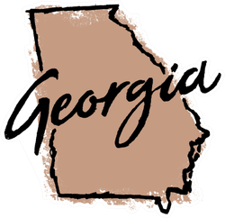 Hand Drawn Georgia State Sticker