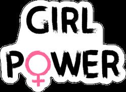 Hand Drawn Girl Power Sticker