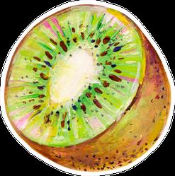 Hand-drawn Half Of The Kiwi Sticker
