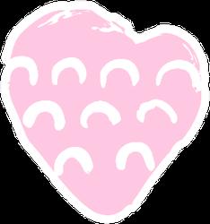 Hand Drawn Heart Boho Sticker