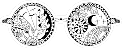 Hand Drawn Hippie Sun Glasses Sticker