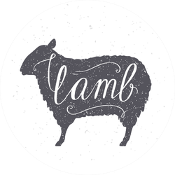 Hand Drawn Hipster Sheep Silhouette Sticker