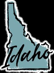 Hand Drawn Idaho State Sticker