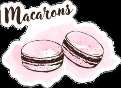 Hand Drawn Macaroons Sticker