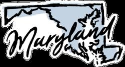 Hand Drawn Maryland State Sticker