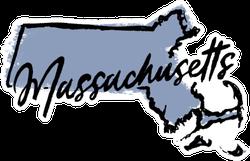 Hand Drawn Massachusetts State Sticker