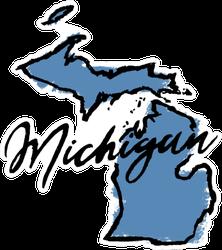 Hand Drawn Michigan State Sticker