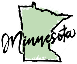 Hand Drawn Minnesota State Sticker