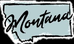 Hand Drawn Montana State Sticker