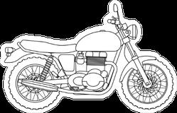 Hand Drawn Motorcycle Sticker