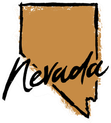 Hand Drawn Nevada State Sticker