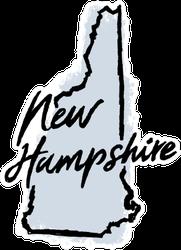 Hand Drawn New Hampshire State Sticker