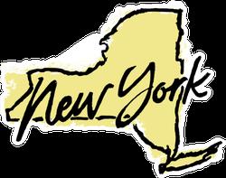 Hand Drawn New York State Sticker