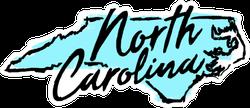 Hand Drawn North Carolina State Sticker