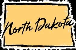 Hand Drawn North Dakota State Sticker