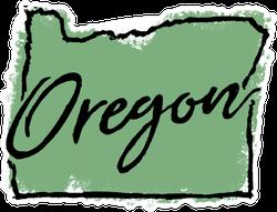 Hand Drawn Oregon State Sticker