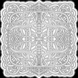Hand Drawn Ornament In Celtic Style Sticker