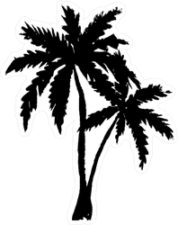 Hand Drawn Palm Trees Silhouette Sticker