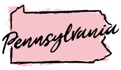 Hand Drawn Pennsylvania State Sticker