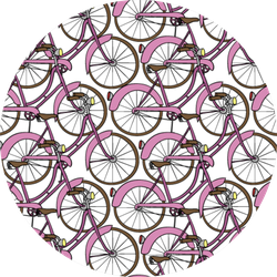Hand Drawn Pink Bicycle Pattern Sticker