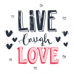 Hand Drawn Romantic Lettering Live Laugh Love Sticker