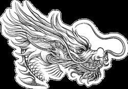 Hand Drawn Style Chinese Dragon Sticker