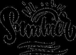 Hand Drawn Summer Lettering Sticker