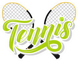 Hand Drawn Tennis Lettering Text Sticker