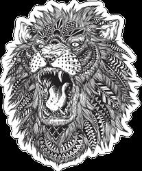 Hand Drawn Tribal Lion Sticker