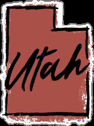 Hand Drawn Utah State Sticker
