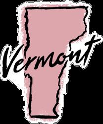 Hand Drawn Vermont State Sticker