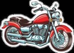 Hand Drawn Vintage Motorcycle Sticker