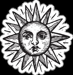 Hand Drawn Vintage Sun Sticker